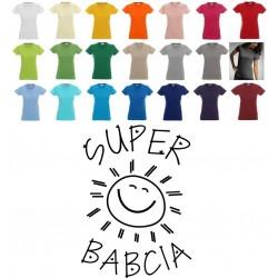 Koszulka Damska - Super Babcia
