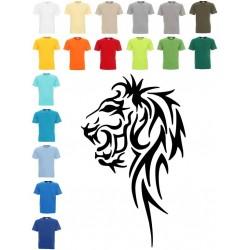Koszulka męska - Lew czarny