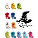 Koszulka dziecięca - Dynia w kapeluszu czarna