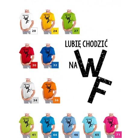 Koszulka dziecięca - Lubię chodzić na w-f