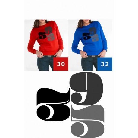 Bluza damska wekend cyfry 359 czarne