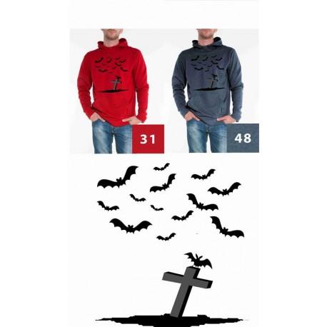 Bluz Męska nietoperze i krzyz czarne
