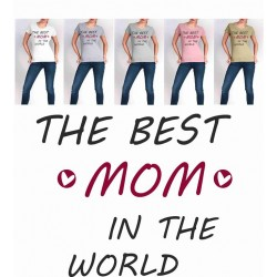 Koszulka Damska - THE BEST MOM IN THE WORLD