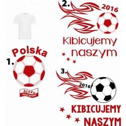 Koszulka męska - Polska biało-czerwoni piłka nożna