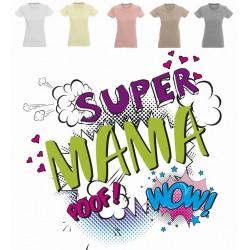 Koszulka Damska - Super Mama