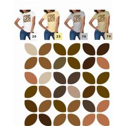 Koszulka damska - listki brązowe