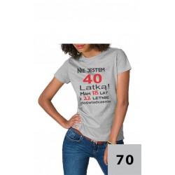 Koszulka damska - Nie jestem 40-latką