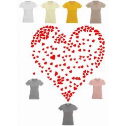 Koszulka damska - Serce z seduszek