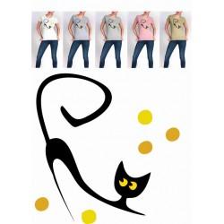 Koszulka Damska - Smukły kotek