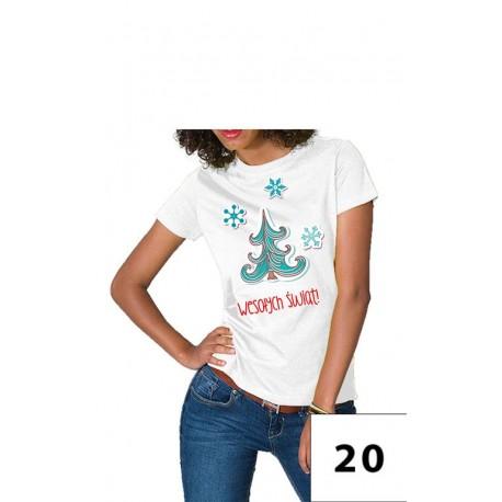 Damska koszulka wesołych świąt 1 - choinka