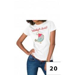 Damska koszulka wesołych świąt 2