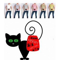 Koszulka damska świąteczny kot