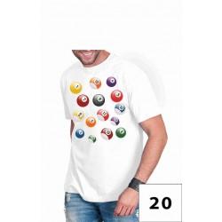 Koszulki męskie - bile bilard