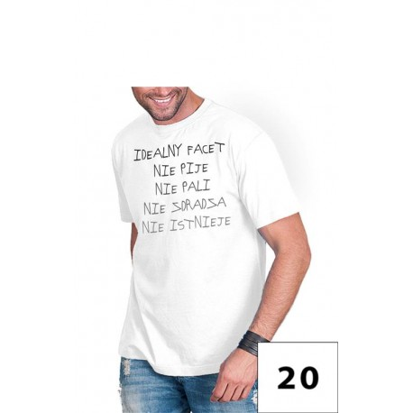 Koszulka męska - idealny facet nie pije nie ....