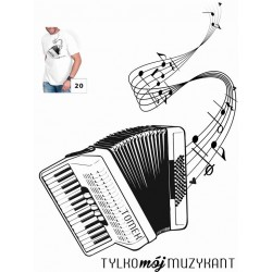 Koszulka męska - muzykant klawisze