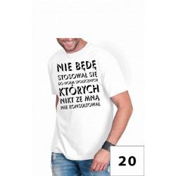 Koszulka męska - nie będę się stosował do norm społecznych