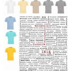 Koszulka męska - urodziny napisy