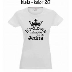 Koszulka Damska - Królowa zakupów