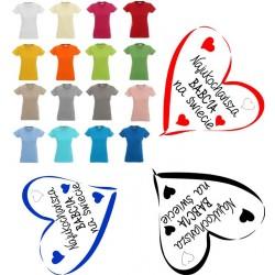 Koszulka Damska - Najukochańsza babcia na świecie