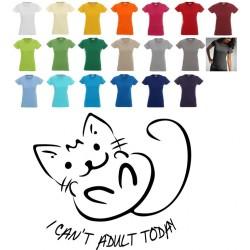 Koszulka damska - I CAN`T ADULT TODAY kotek