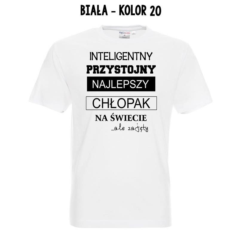 76c51699e Koszulka męska - Inteligentny, przystojny .. zajety