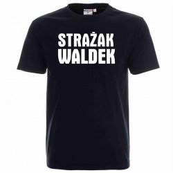 Koszulka męska czarna - Strażak