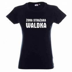 Koszulka damska czarna - żona strażaka