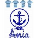 Koszulka dziecięca - morskie imię kotwica