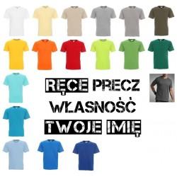 Koszulka męska - rece precz własność ... imie