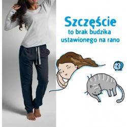 Piżama Damska - długa - szczęście to brak budzika ...
