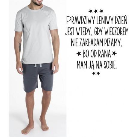 Piżama Męska - któtka Light Snore - Prawdziwy leniwy dzień ...