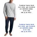 Piżama Męska dluga - snore prawdzimy leniwy dzien 2