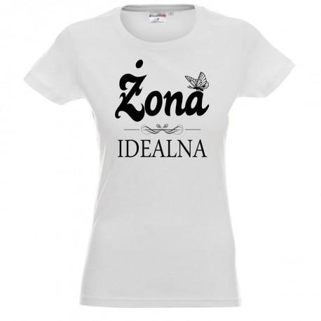 Koszulka Damska - Żona Idealna 2 z motylkiem
