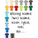 Koszulka męska - Własny nadruk, tekst, hasło