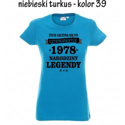 Koszulka Damska - Życie zaczyna się po 40-tce