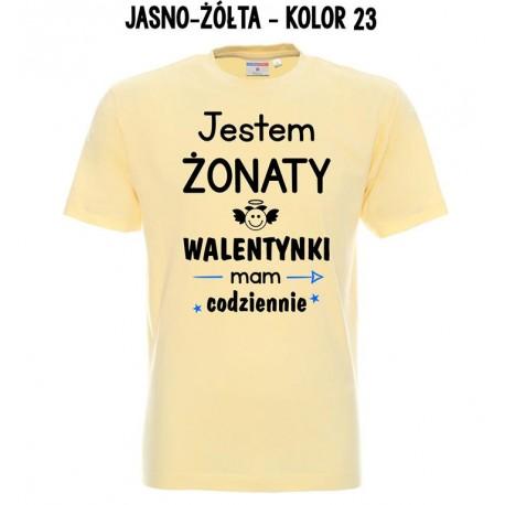Koszulka męska - JESTEM ZONATY WALENTYNKI MAM CODZIENNIE