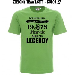 Koszulka męska - Życie zaczyna się po 40 tce 2 Narodziny Legendy