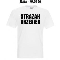 Koszulka męska - Strażak druk na czarno