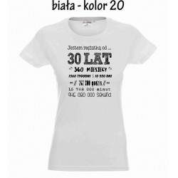 Koszulka Damska - Rocznica slubu - wersja polska