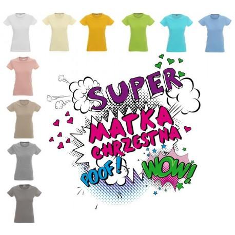 Koszlka damska - Super Matka Chrzestna - kolor