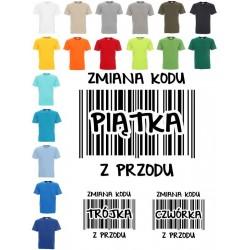 Koszulka męska - Zmiana kodu 5 z przodu