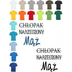 Koszulka Męska - chlopak, narzeczony, mąż