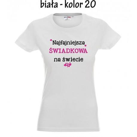 Koszulka Damska - Najfajniejsza Świadkowa na Świecie