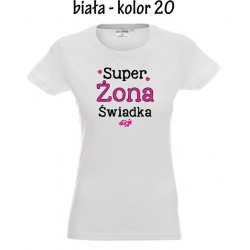 Koszulka Damska - Super Żona Świadka