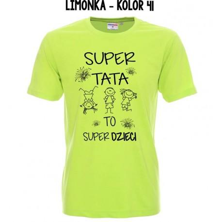 Koszulka Męska - Super Tata to Super Dzieci