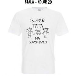Koszulka Męska - Super tata ma Super Dzieci
