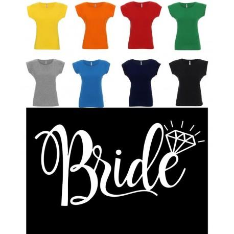 Koszulka Damska - Bride na biało