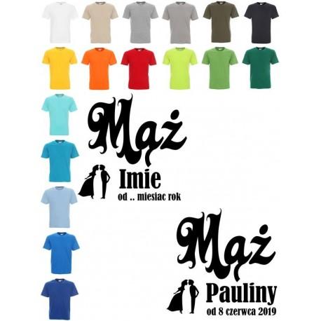 Koszulka Męska - Mąż od ... imię