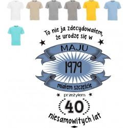 Koszulka męska - To nie ja zdecydowałem, że urodzę się ..