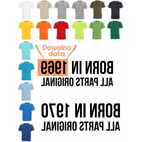Koszulka Męska - Born in ... lustro